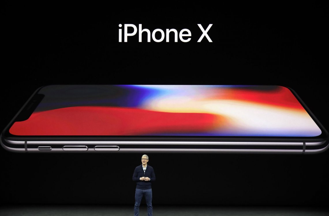 Imagen del iPhone X presentado en septiembre