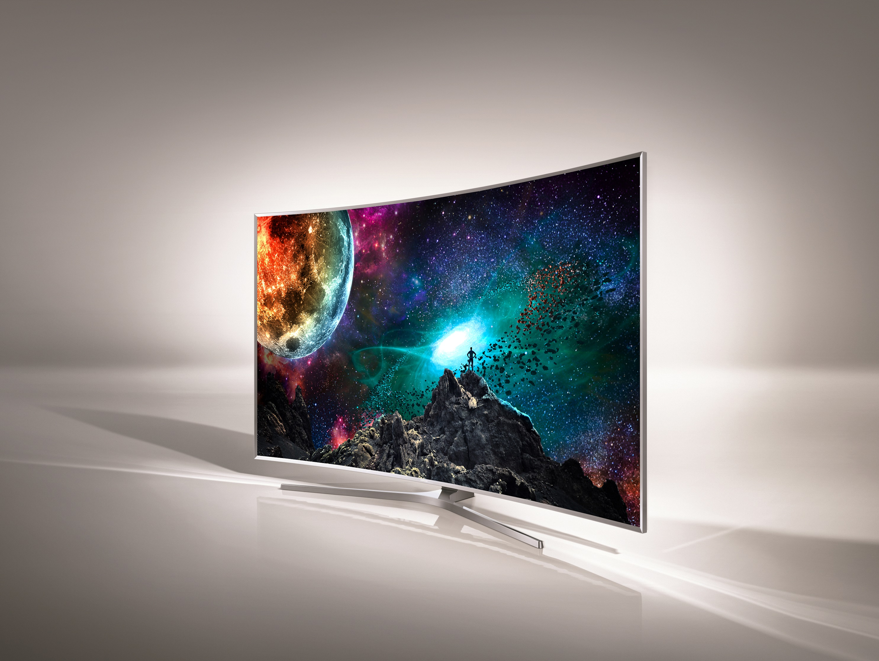 Pantalla de la gama de los televisores curvos de Samsung