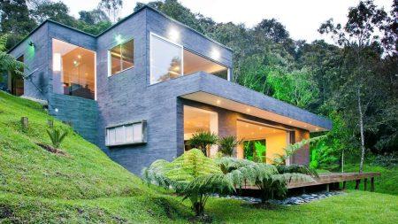 Se diseño una casa de lago a partir de la inspiración