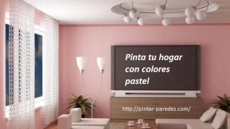 Utiliza colores pasteles en interiores modernos