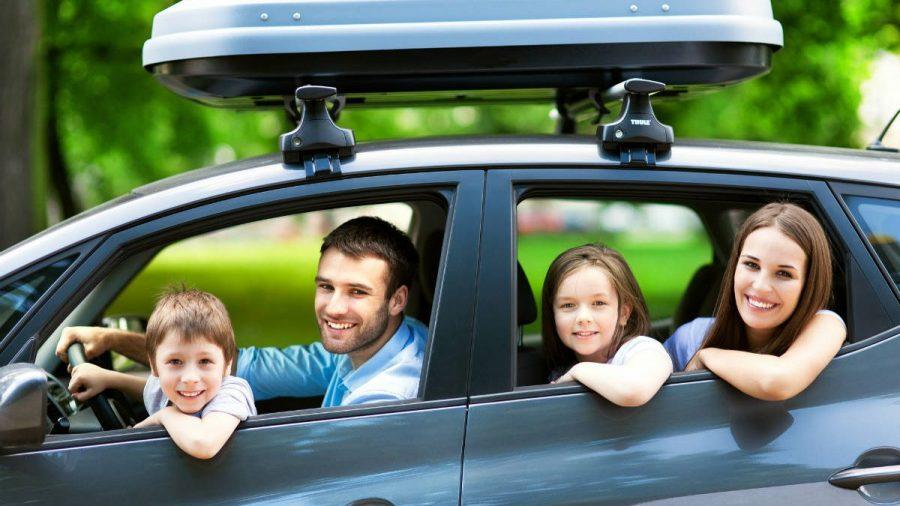 Viaje en automóvil con la familia.